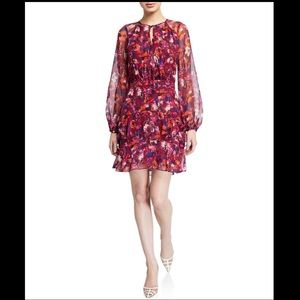 Parker NWT Marengo Floral-Print Long-Sleeve Dress
